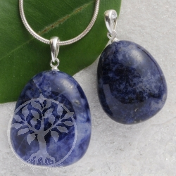 Sodalite pendant with loop 3 pieces