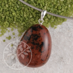 Mahogany Obsidian pendant with loop 925