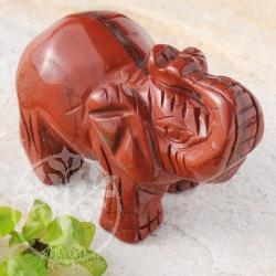 Elefant Roter Jaspis Figur Steinelefant rot Edelsteineelefanten 50mm