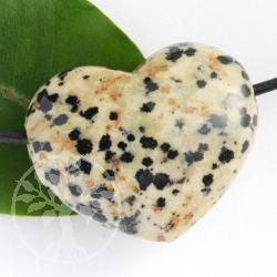 Dalmatian Jasper Heart Pendant Belly BIG