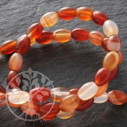 Carneol Oliven Perlen Halskette