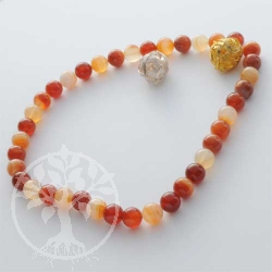 Carnelian necklace Sunset