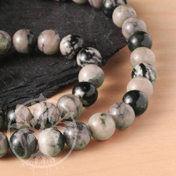 Rhodonit Perlen Halskette