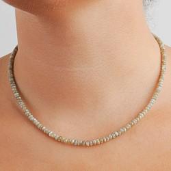 Chrysoberyll Kette A weiss - echtes Katzenauge Halskette