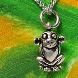 Affe Anhänger Silberschmuck Anhänger