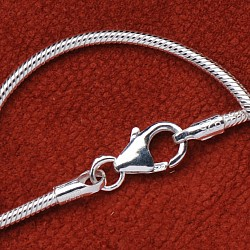 Silver Necklace Snake 42cm 2.4mm