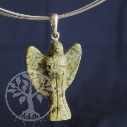 Snake Skin Angel Pendant Silber 925