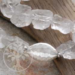Rock crystal necklace raw nuggets