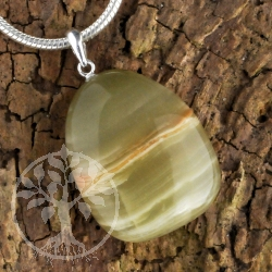 Marble Onyx Gemstone Pendant with loop 925