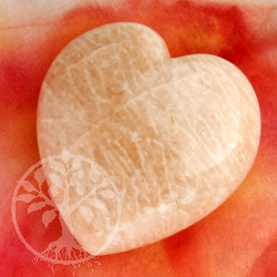 Heart Hand Stone Indian Moonstone