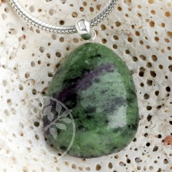 Ruby Zoisite Gemstone Pendant with loop