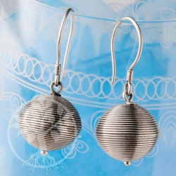 Silver Earrings Disco Ball