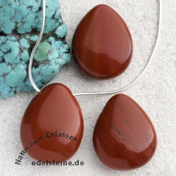 Red Jasper Tumbled Stone Pendant 3 pieces