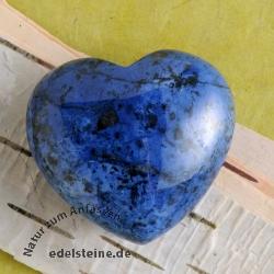 Dumortierite Heart Hand Stone