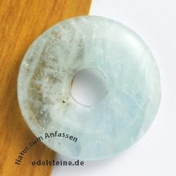 Aquamarin Donut Anhänger 20mm