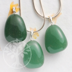 Aventurine pendant with loop 3 pieces