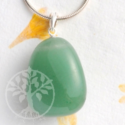 Aventurine pendant with loop 925
