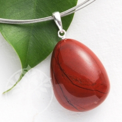 Red Jaspser pendant with loop 925