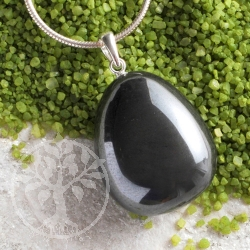 Hematite pendant with loop