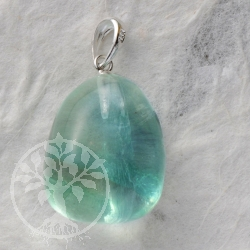 Fluorite green blue pendant with loop