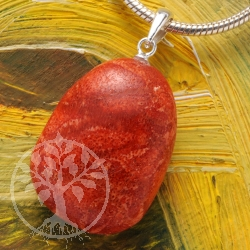 Coral pendant with loop 925