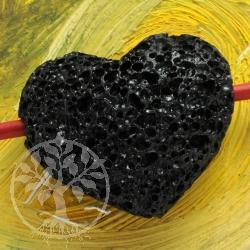 Lava Stein Herz Anhänger 30*25mm Belly BIG