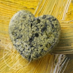 Snakeskin Jasper Heart Pendant 20mm green genuine gemstone