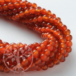 Carnelian Gemstone Beads A-Quality 4mm / 40cm