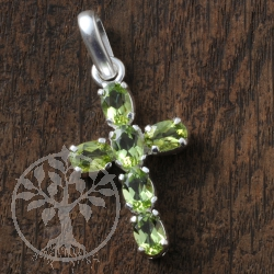 Silber Kreuz Peridot