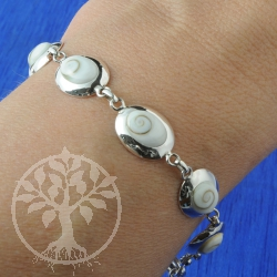 Silber Armband Shiva 925er Silberschmuck mit Shivamuschel