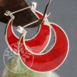 Coral Earrings Crescent