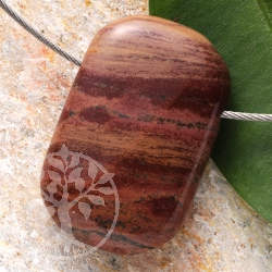 Rainbow Jasper Pendant Rectangled