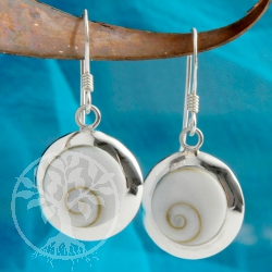 Shiva Silver Earrings round