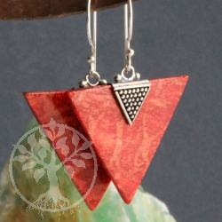 Coral Earrings Arrowhead