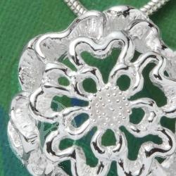 Silber Anhänger Blume