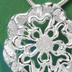 Silver Pendant Flower