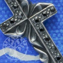 Silberkreuz Anhänger Onyx
