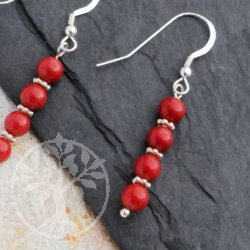 Coral Silver Earrings Canape