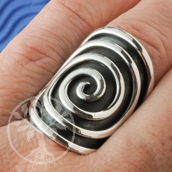 Silber Ring Oxi Spirale