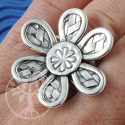 Silber Blumen Ring Silber 925