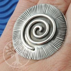 Silberring Sonnenspirale