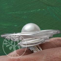 Silber Ring Wassertropfen