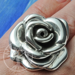 Silber Ring Edle Rose