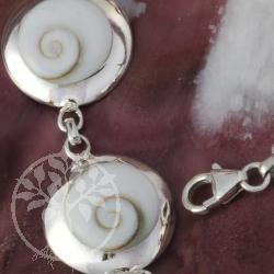 Armband Shiva runde Shivamuscheln Silber 925