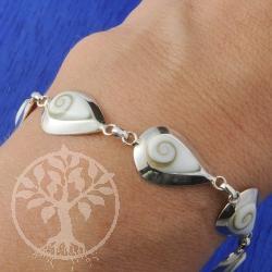 Armband Auge der Shiva Tropfen Silber 925