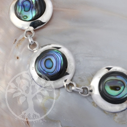 Silber Armband Perlmutt rund