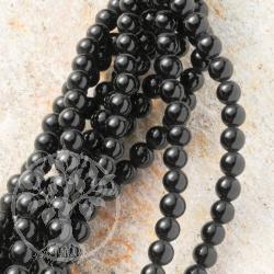 Agate Black Gemstone Beads
