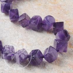 Amethyste Gemstone Beads Cube
