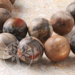 Versteinertes Holz Perlen Matt 18 mm