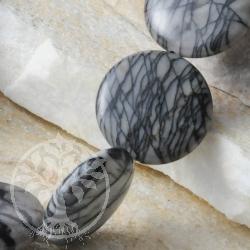 Schmuckperlen Picasso Jaspis Disc 20mm 40cm Scheiben Perlen